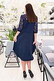 Прямое платье рубашечного кроя на пуговицах с отделкой из гипюра, р.48-50,52-54,56-58,60-62 Код 731Д, фото 6