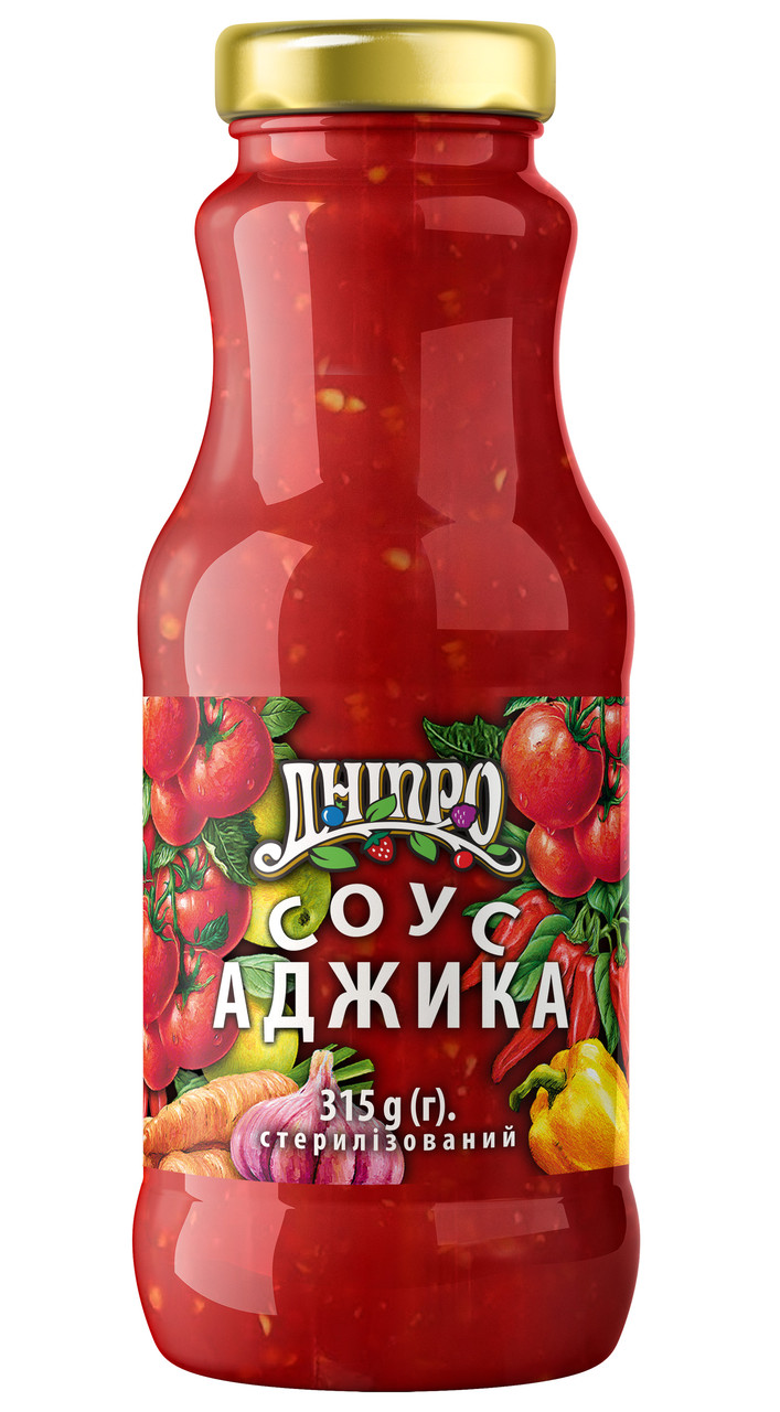 Соус Дніпро Аджика 315г