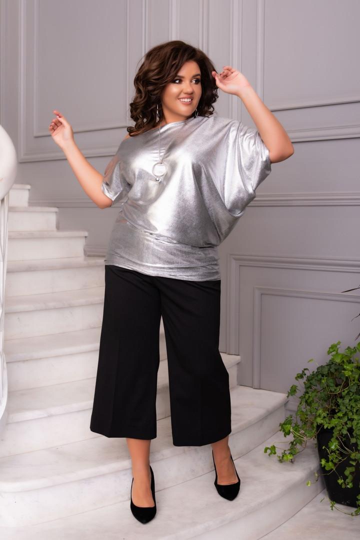 Костюм двойка блуза и кюлоты вискоза+креп дайвинг размеры: 50-52, 54-56, 58-60
