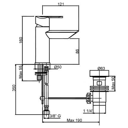 Смеситель для раковины Bianchi Dream LVBDRM2002IMCRM, фото 2