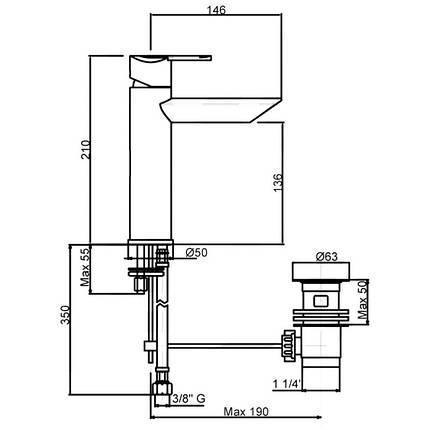 Смеситель для раковины Bianchi Dream LVBDRM2019IACRM, фото 2