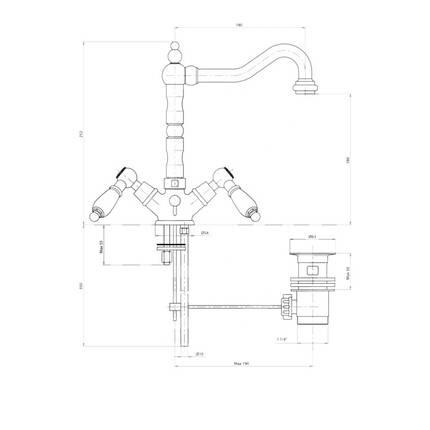 Смеситель для раковины Bianchi First LVBFRS1036026IACRM, фото 2