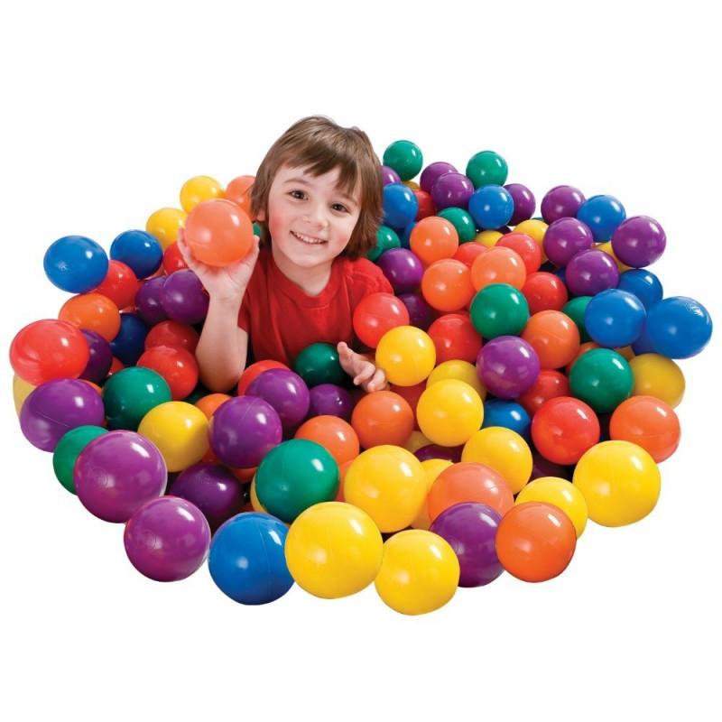 Набор цветных пластиковых мячей Intex 49602 диаметр 6 см 100 шт.