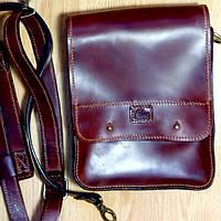 Кожаная мужская сумка через плечо/Ручная🖐️ работа, сумка месенджер