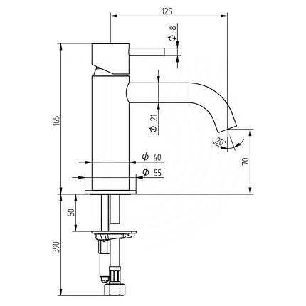 Смеситель для раковины Bianchi Steel LVBSTE2002CMINX, фото 2