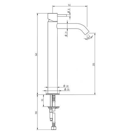 Смеситель для раковины Bianchi Steel LVBSTE2013CMINX, фото 2