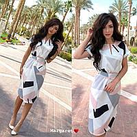 Платье летнее с геометрическим узором MR1636
