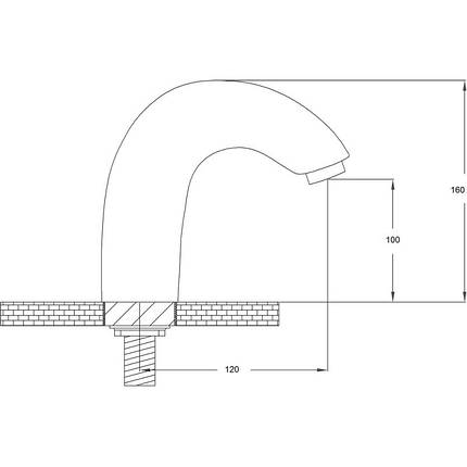Смеситель для раковины сенсорный Potato P0079, фото 2