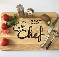 Кухонная доска из дерева «Best Chef» 40 х 25 см, фото 1