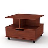 Журнальный столик с ящиком на колесиках Фаворит (Компанит), фото 2