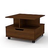 Журнальный столик с ящиком на колесиках Фаворит (Компанит), фото 5