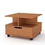 Журнальный столик с ящиком на колесиках Фаворит (Компанит), фото 6