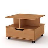 Журнальный столик с ящиком на колесиках Фаворит (Компанит), фото 7