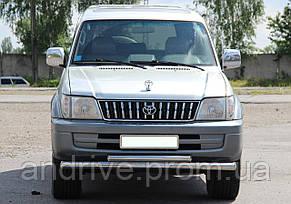 Защита переднего бампера (ус двойной) Toyota Land Cruiser Prado 80 1990-1997