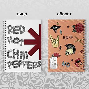 Скетчбук А5 48 л. 150 гр.м²  Red Hot Chili Peppers