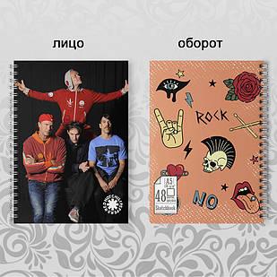 Скетчбук А5 48 л. 150 гр.м²  Red Hot Chili Peppers 002