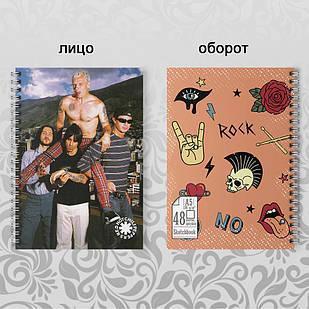 Скетчбук А5 48 л. 150 гр.м²  Red Hot Chili Peppers 003