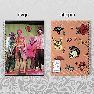 Скетчбук А5 48 л. 150 гр.м²  Red Hot Chili Peppers 004