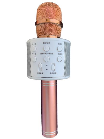Караоке микрофон с Bluetooth колонкой WSTER WS-858 Rose Gold White