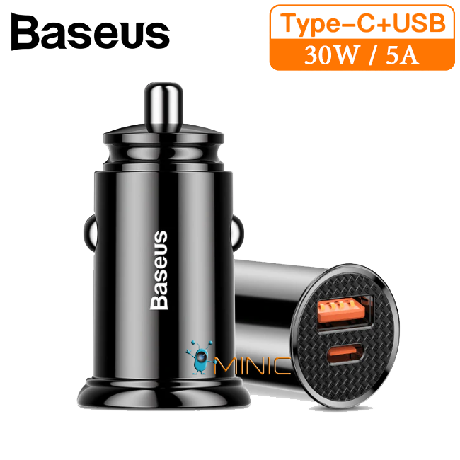 Автомобильное зарядное устройство Baseus Car Charger 30Вт / 5А QC 4.0 Type-C+USB (BS-C16C)