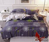 Семейный комплект постельного белья   с компаньоном R7232 простынь на резинке