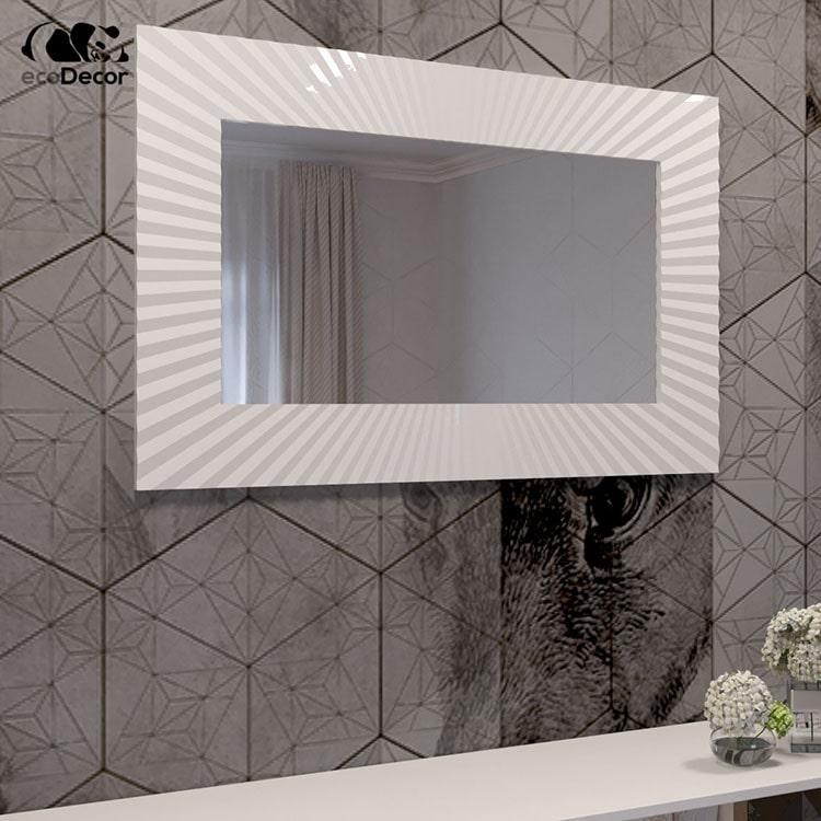 Зеркало в ванную белое Donato P1