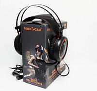 Игровые наушники с микрофоном и LED подсветкой FIRECAM  X-6MAX черные