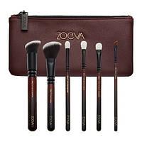 Набор кистей ZOEVA Classic Queens Guard Brush Set X6 марсала 6 шт, фото 1