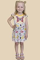 Детское летнее платье на рост 92, 98, 104, 110 см (100% хлопок)