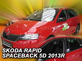 Дефлекторы окон (ветровики)  Skoda RAPID SPACEBACK 2013R->  4шт (Heko)