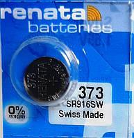 Батарейка для часов. Renata SR916SW (373) 1.55V 11,5mAh 9.5mmx 1,65mm. Серебрянно-цинковая