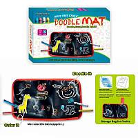 Коврик-aльбом для рисования мелками (мелом) малый Doodle Mat | для детского творчества дома , Наборы для рисования, пеналы