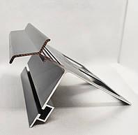 Профиль алюминиевый для открытого балкона и террасы окончание для плитки и свеса капельник отлив коричневый 2м, фото 1