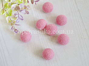 Кулька шерстяна 2,5 см рожева