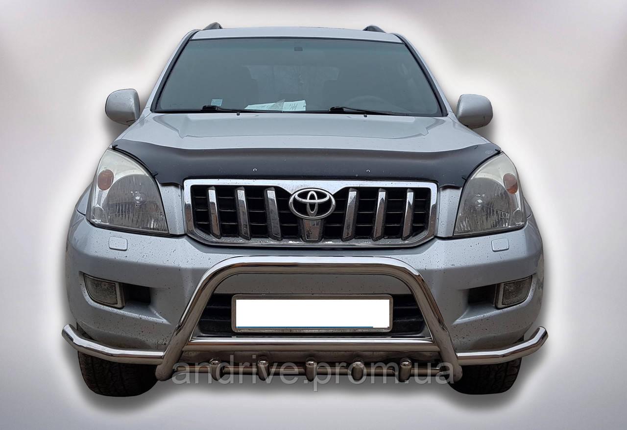 Кенгурятник с усами (защита переднего бампера) Toyota Prado Land Cruiser Prado 120 2002-2009