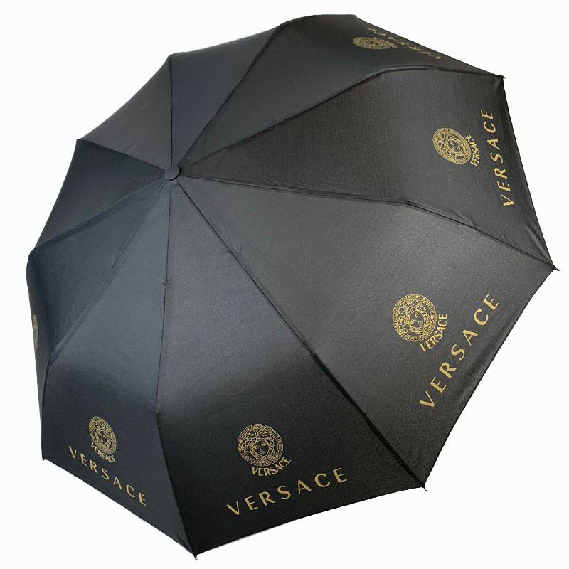 """Складной женский зонт полуавтомат с системой """"антиветер"""", """"Бренды"""" от MAX, черный, 515-33"""