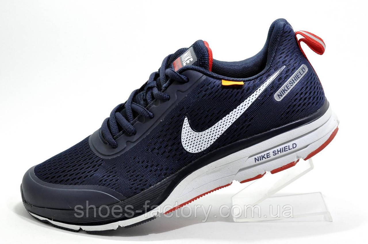 Беговые кроссовки в стиле Nike Air Zoom Shield Axis, Dark Blue\White\Red
