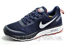 Беговые кроссовки в стиле Nike Air Zoom Shield Axis, Dark Blue\White\Red, фото 3