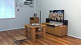 Журнальный стол со стеклом Мадрид МДФ Компанит, фото 9