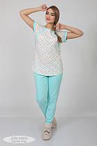 Комфортная пижама для беременных и кормящих, размеры от 44 до 48, фото 2