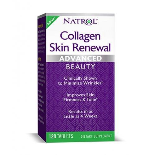 Коллаген для суставов и кожи, коллаген в таблетках, Natrol Collagen Skin Renewal - 120 таблеток