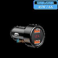 Автомобильное зарядное устройство Baseus Car Charger 45Вт / 6А QC 3.0 USB+USB (BS-C20A), фото 1
