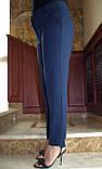 Универсальные классические брюки прямого кроя, дополнят образ деловой девушки, р.52,56,60 к.3122М, фото 3