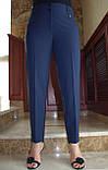 Универсальные классические брюки прямого кроя, дополнят образ деловой девушки, р.52,56,60 к.3122М, фото 2