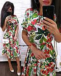 Жіночий літній сукні-міді в кольорах (в кольорах), фото 9