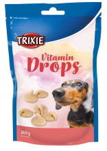 Ласощі для собак та цуценят trixie Drops бекон 200г