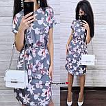 Женский летнее платье-миди в расцветках с цветочным принтом (в расцветках), фото 2