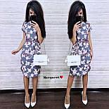 Женский летнее платье-миди в расцветках с цветочным принтом (в расцветках), фото 5