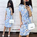 Женский летнее платье-миди в расцветках с цветочным принтом (в расцветках), фото 6