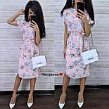 Женский летнее платье-миди в расцветках с цветочным принтом (в расцветках), фото 7